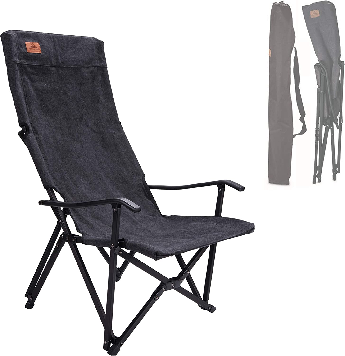 Price reduction CAMPINGMOON Foldable Cotton Canvas Camping Chair S Back Low High Gorgeous