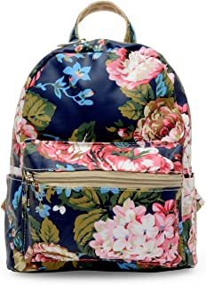 Elios Trendy Multicolor Floral Print Casual Mini Backpack for Women & Girls (Multi)