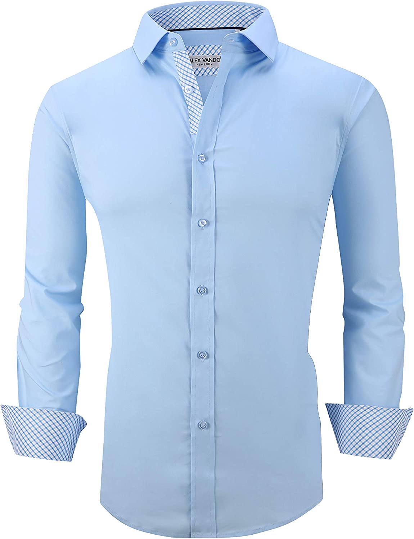 Mens Premium Dress Shirt,Casual Button Down Shirts for Men,Fashion Long Sleeve Work Shirt