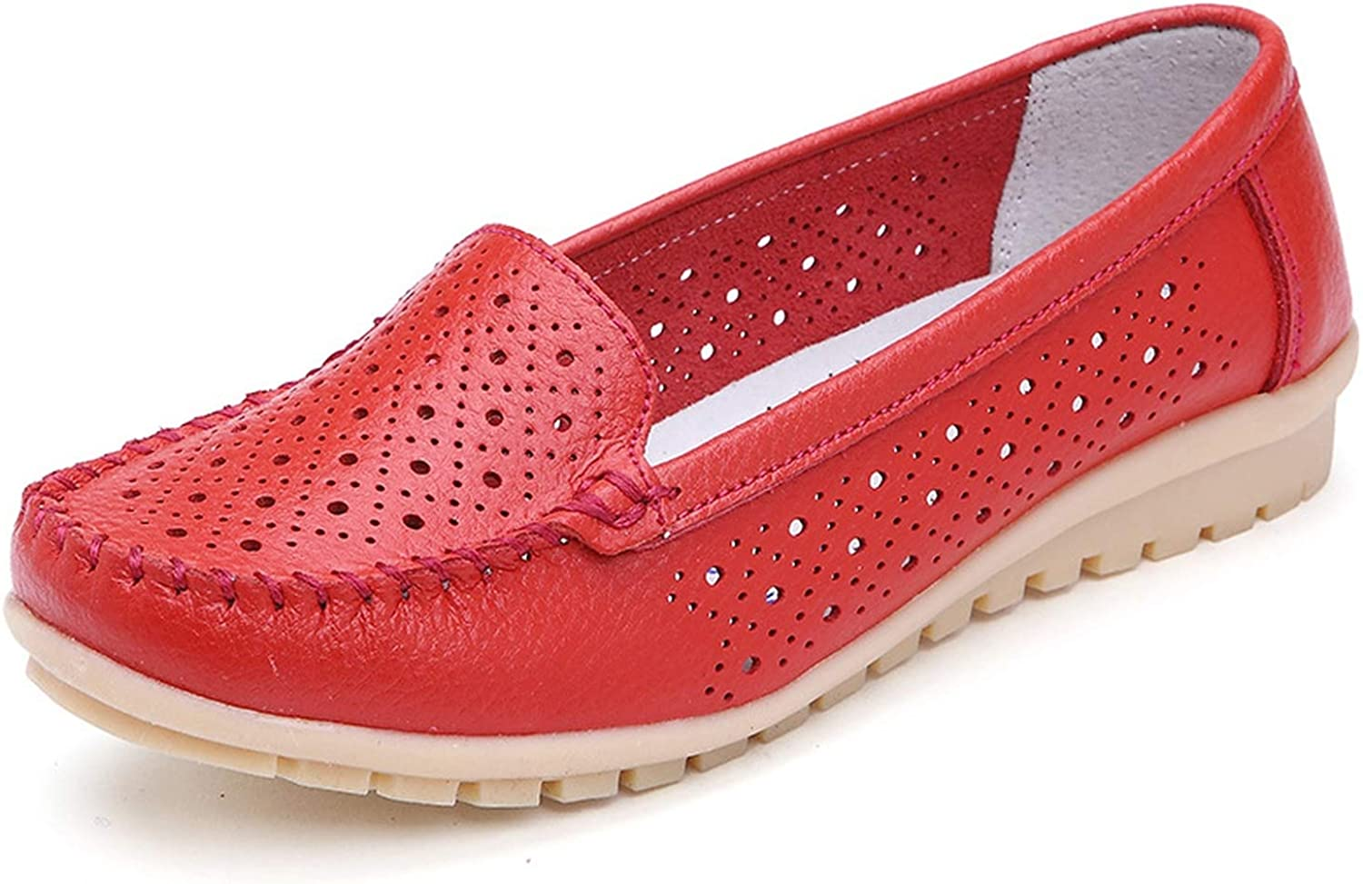 Summer Women Flats Women Genuine Leather Driving shoes Woman Ballet Loafers Slip on Naked Flats