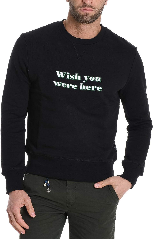 AMI ALEXANDRE MATTIUSSI Men's E18J060730001 Black Cotton Sweatshirt