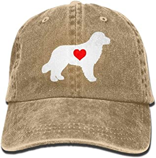 Unisex Golden Retriever with Heart-1 Vintage Jeans Baseball Cap Adjustable  Dad Hat a8c20ab6aa87