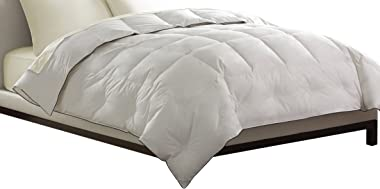 Pacific Coast Feather Company 67822 Light Warmth Down Comforter, Cotton Cover, Hypoallergenic, Full/Queen