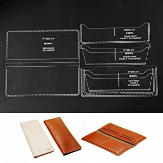 WUTA Long Wallet Acrylic Template Leather Stencil Pattern DIY Leather Craft Tools Cutting Model for Lady Clutch Long Purse WT865