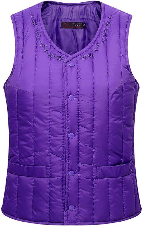 Women's Sleeveless Quilted , V-neck Short Lightweight Sleeveless Winter Coats