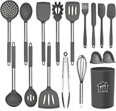 Silicone Cooking Utensil Set, AILUKI Kitchen Utensils 17 Pcs Cooking Utensils Set,Non-stick Heat Resistant Silicone,Cookwa...