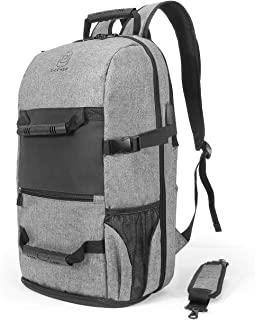 Travel Laptop Backpack, Mens Duffle Backpack, Large Capacity 17.3 inch Laptop Backpack with USB Charging Port, Outdoor Sports Backpack with Shoe Compartment for Gym, Traveling, School