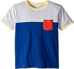 Color Block Pocket Tee Shirt (Toddler/Little Kids/Big Kids)