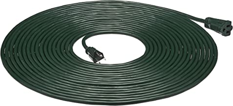 AmazonBasics 16/3 Vinyl Outdoor Extension Cord, Green, 50 Foot