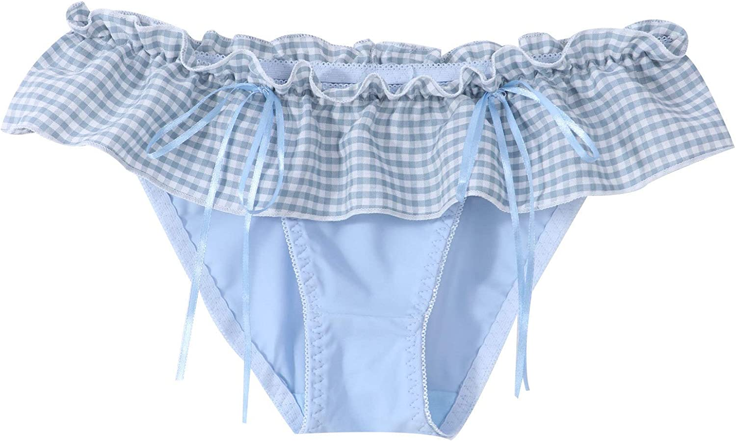 TTAO Men's Ruffled Popular brand Sissy Pouch Lac Panties Satin Lingerie Gifts Floral