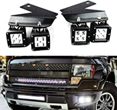 iJDMTOY LED Pod Light Fog Lamp Kit For 2010-14 Ford SVT Raptor, Includes (4) 20W High Power White CREE LED Cubes, Foglight Location Mounting Brackets & On/Off Switch Wiring Kit