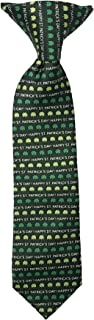 Jacob Alexander Boys' Happy St. Patrick's Day Shamrocks 11 inch Clip-On Neck Tie