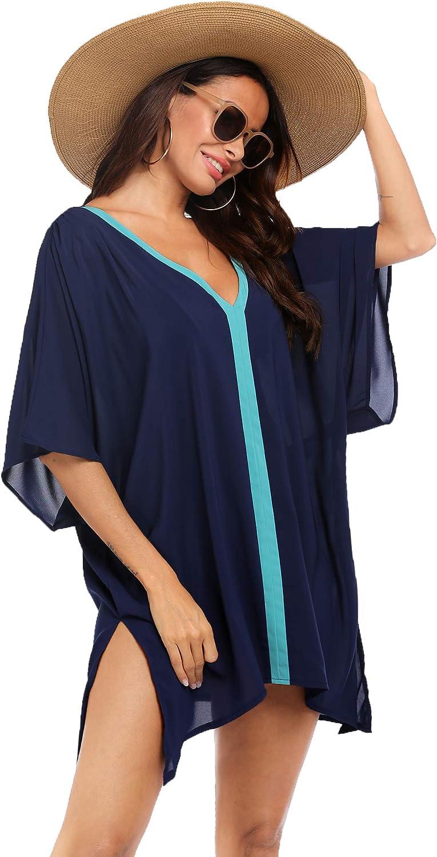 Hotouch Cover Ups for Swimwear Womens Swimsuit Coverup Shirt Bikini Beachwear Bathing Suit Beach Dress