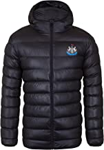 Newcastle United FC Official Soccer Gift Mens Quilted Hooded Winter Jacket