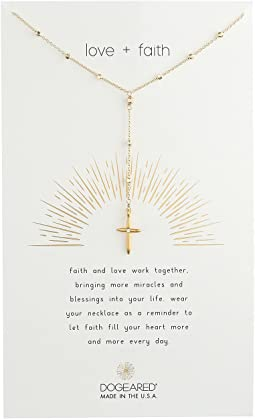 Love + Faith, Cross Rosary Necklace