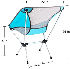 MOON LENCE Outdoor Ultralight Portable Folding Chairs with Carry Bag Heavy Duty 242lbs Capacity Camping Folding Chair...