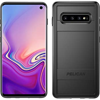 Pelican Protector Samsung Galaxy S10 Phone Case, Drop-Tested Protective Smartphone Cover, Wireless Charging-Compatible Accessory (Black)