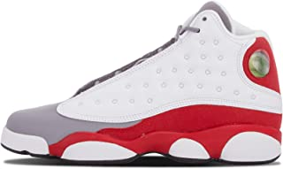 Nike Mens Air 13 Retro BG Grey Toe White/Black-Cement Grey-True Red Leather Basketball Shoes Size 6Y