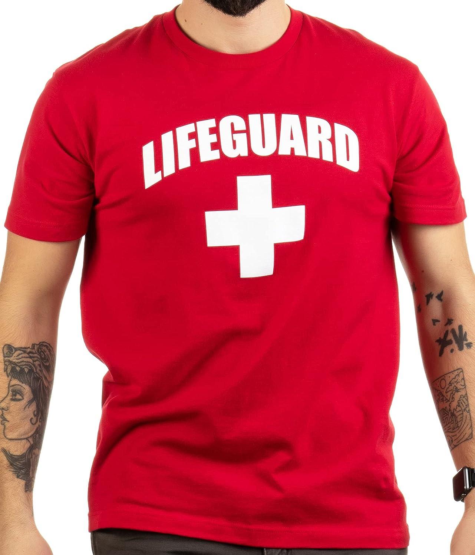 Lifeguard | White or Red Lifeguarding Unisex Uniform Costume T-Shirt for Men Women