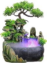 100cm 4-stufiger Gartenbrunnen Wasserbrunnen im Freien Moderner Feng Shui Meditationswasserfall Bodenbrunnen aus Harz mit LED-beleuchtetem f/ür Wohnzimmer oder Garten beleuchtet