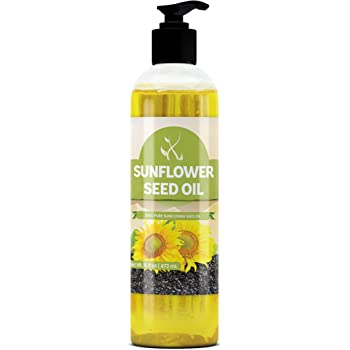 Sunflower Seed Oil (16 oz) Vegan & Non-GMO, Paraben-Free, Silicone & Sulfate-Free, Clear Bottle with Push Open Dispensing Cap by Pure Ingredients