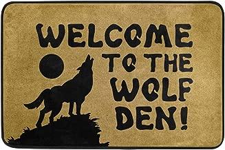 wolf doormat