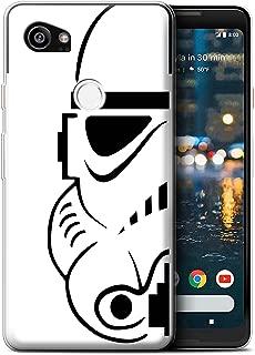 STUFF4 Gel TPU Phone Case/Cover for Google Pixel 2 XL/Stormtrooper Design/Assault Trooper Helmet Collection