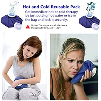 Ice Cold Pack Ohuhu Reusable Ice Bag Hot Water Bag for Injuries, Hot & Cold Therapy and Pain Relief, 3-Pack, 3 Sizes ...