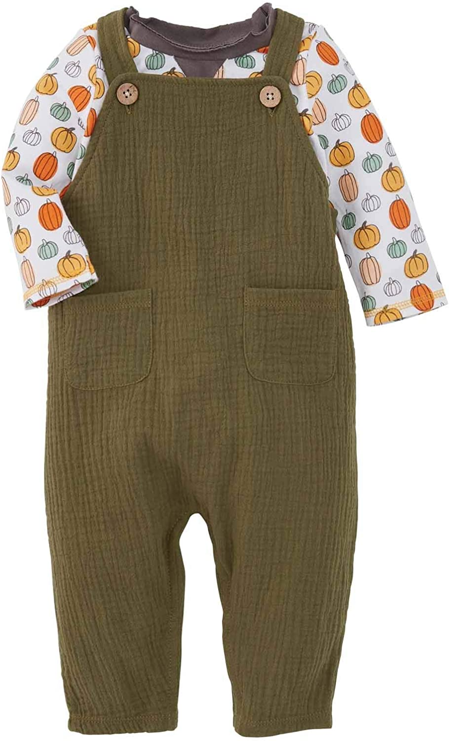 Mud Pie baby-boys Olive Jumper With Tee