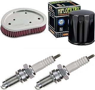 Filtro de aire filtro de aceite bujías para FXDL 1584 Dyna Low Rider año 2008 kit de mantenimiento