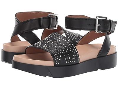 Emporio Armani Studded Platform Sandal (Black) Women