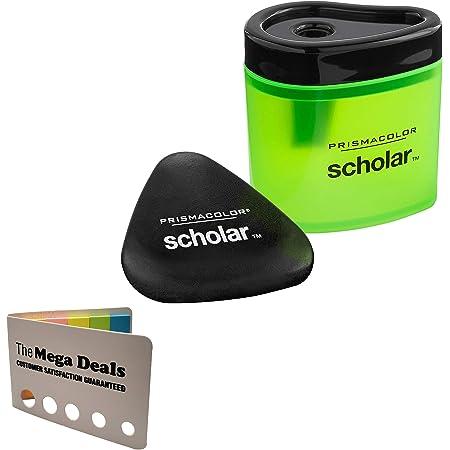 BUNDLE Prismacolor Blender Pencil Colorless 2-pack Prismacolor 3 Eraser Set Prismacolor Scholar Colored Pencil Sharpener