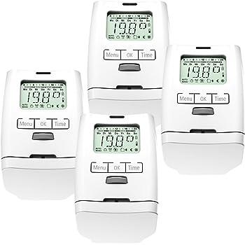 versi/ón Premium con tuerca de metal estable ahorro de energ/ía juego de 3 habitaciones Conjunto de 3 programable para radiadores-termostato HT 2000 unidades modelo silencioso
