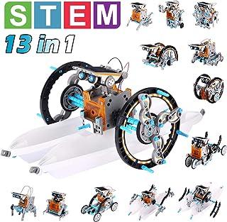 Pakoo Solar Robot Toys STEM Toys 13 in 1 Science Kits for Kids DIY Educational Learning Science Building Toys, STEM Projec...