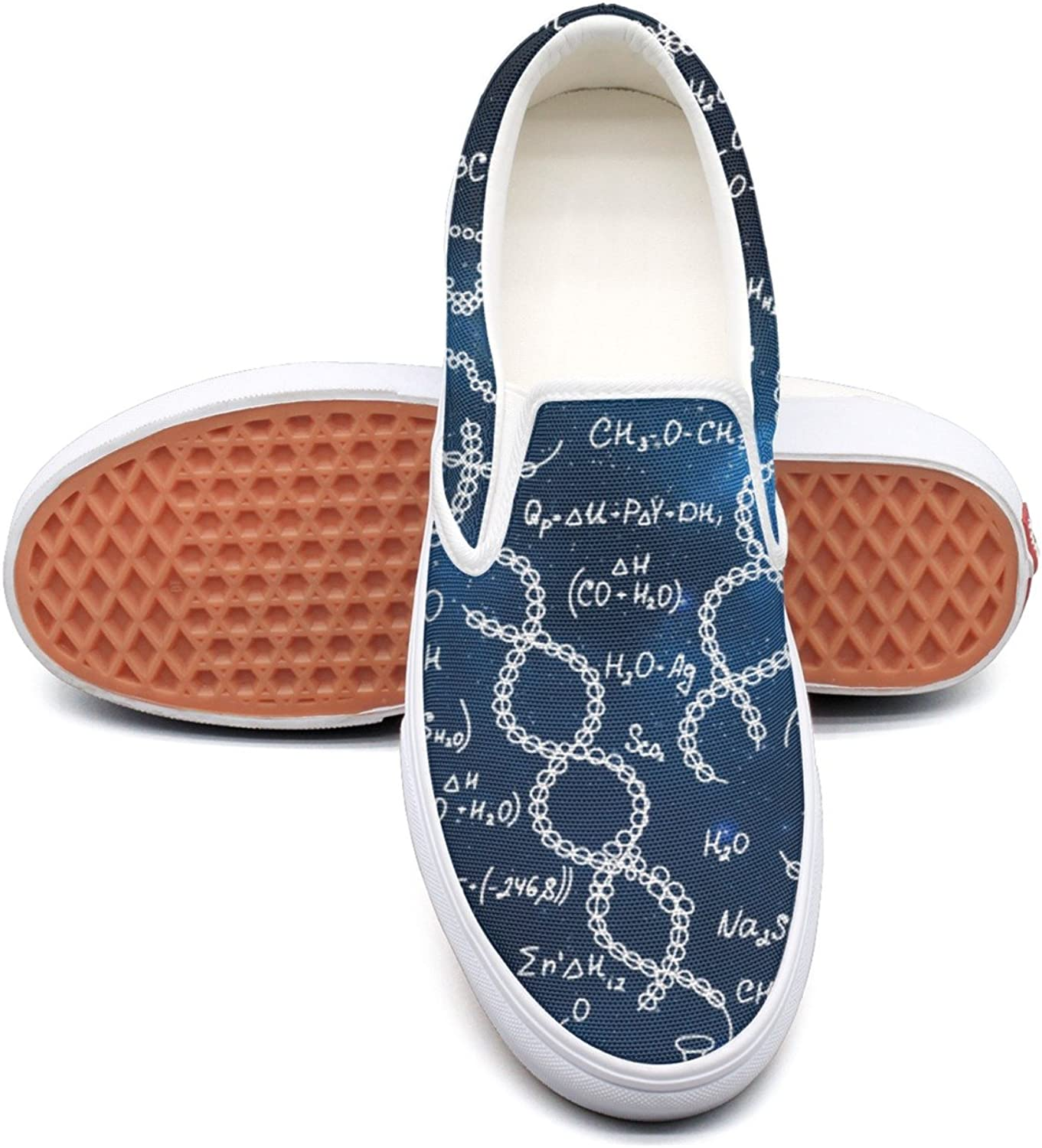 SEERTED Galaxy Chemistry Scientific Formula Comfortable Sneakers for Standing All Day