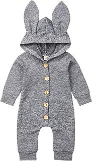 Easter Newborn Baby Boy Girl Clothes Long Sleeve Romper Hood RABIT Ear Bodysuit Jumpsuit Infant Outfits Set Playsuit
