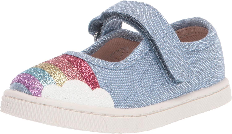 The Children's Place Unisex-Child Rainbow Detail Velcro Sneaker