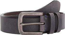 Mens 38 mm Italian Calf Suede Walnut 32 Torino Leather Co
