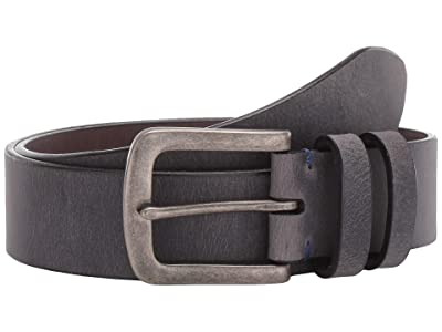 Torino Leather Co. 40 mm Distressed Waxed Harness Leather (Charcoal) Men