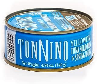 Tonnino - Gourmet - Low Calorie - Superior Taste - Gluten Free - Kosher - Yellowfin - Canned Premium Tuna - Spring Water 4,94 ounce