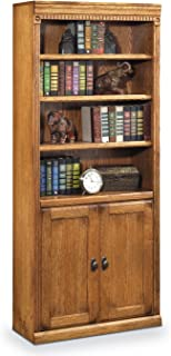 Martin Furniture Huntington Oxford Library Bookcase With Lower Doors, Wheat Finish, Fully Assembled