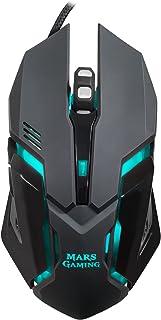 Mars Gaming MRM0, Ratón Gaming Óptico, 4000DPI, RGB Flow, 6 botones, Negro