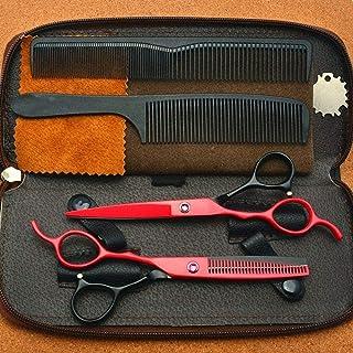 Barber Scissors Professional Barber Scissors Set Single Tail Haircut Shears 5 0 Inch 5.5 Inch with Scissors Bag Salon Barb...