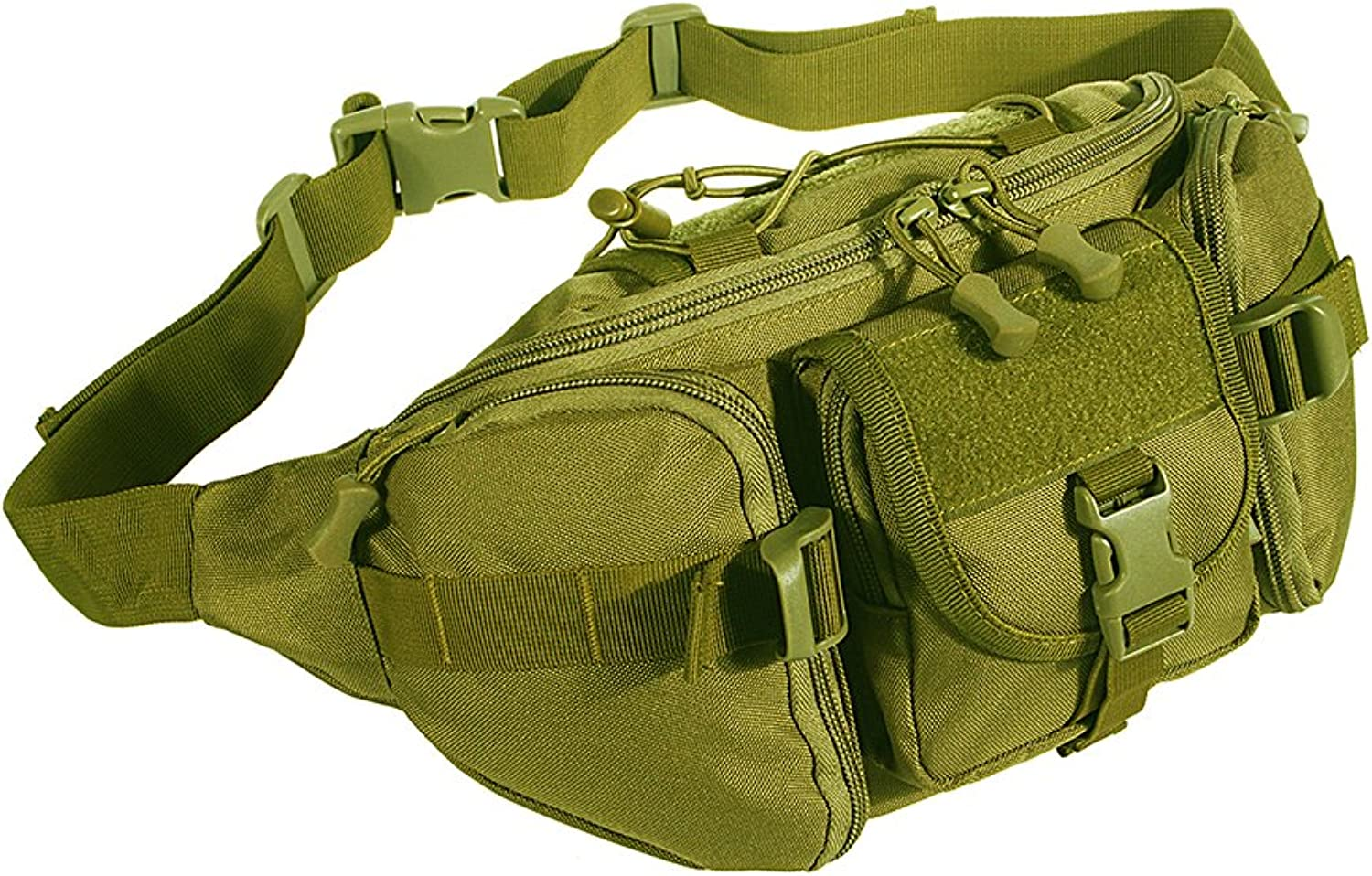 (DE) - Outdoor Tactical Military Waist Pack Bag Packs Waterproof Hip Belt Bag Pouch Travel Hiking Climbing Hunting