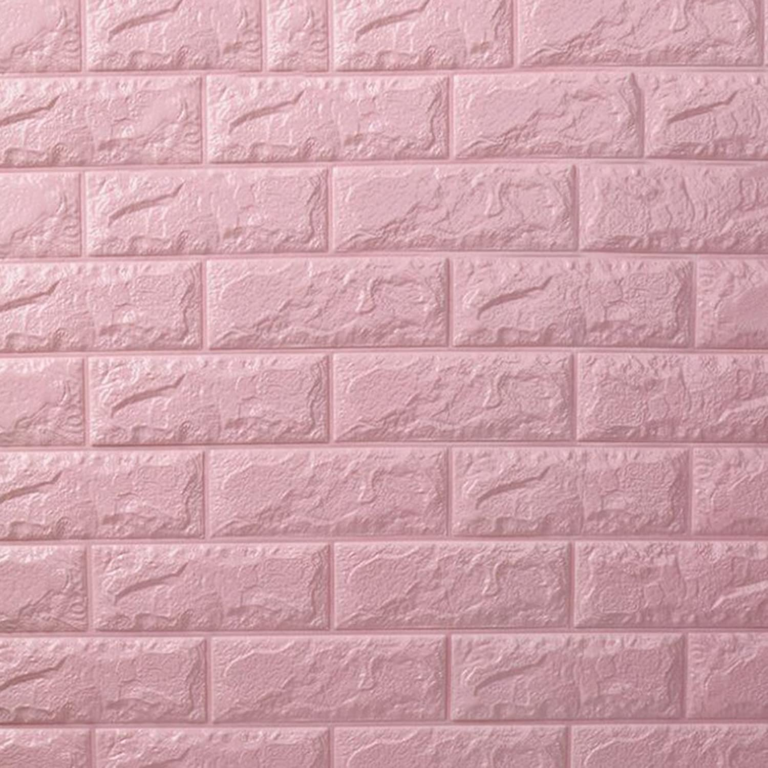 3D Wallpaper Foam DIY Wall Stickers Home Decoration Wall Decor Embossed Brick Stone Living Room Bedroom Background Home Decor 28  30 Inches,H8(10PC)