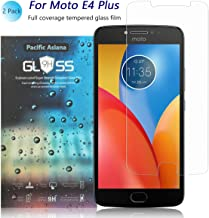 [2-Pack] Moto E4 Plus Screen Protector, Pacific Asiana Ultra Thin 0.3mm HD Clear Ballistic Tempered Glass [9H Hardness] [Anti-Scratch] [Bubble-Free] [Shockproof] Guard Shield for Motorola Moto E4 Plus