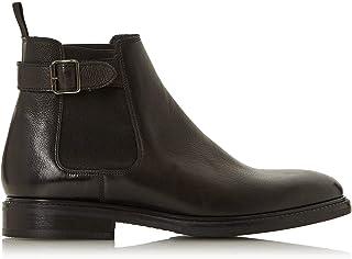Dune London Bertie Mens CAMROD Buckle Detail Chelsea Boots Block Heel
