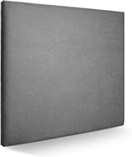 SUENOSZZZ-ESPECIALISTAS DEL DESCANSO Cabecero de Cama Liso tapizado en Tela para Camas de 150 (160 x 120 cm) Tela Gris