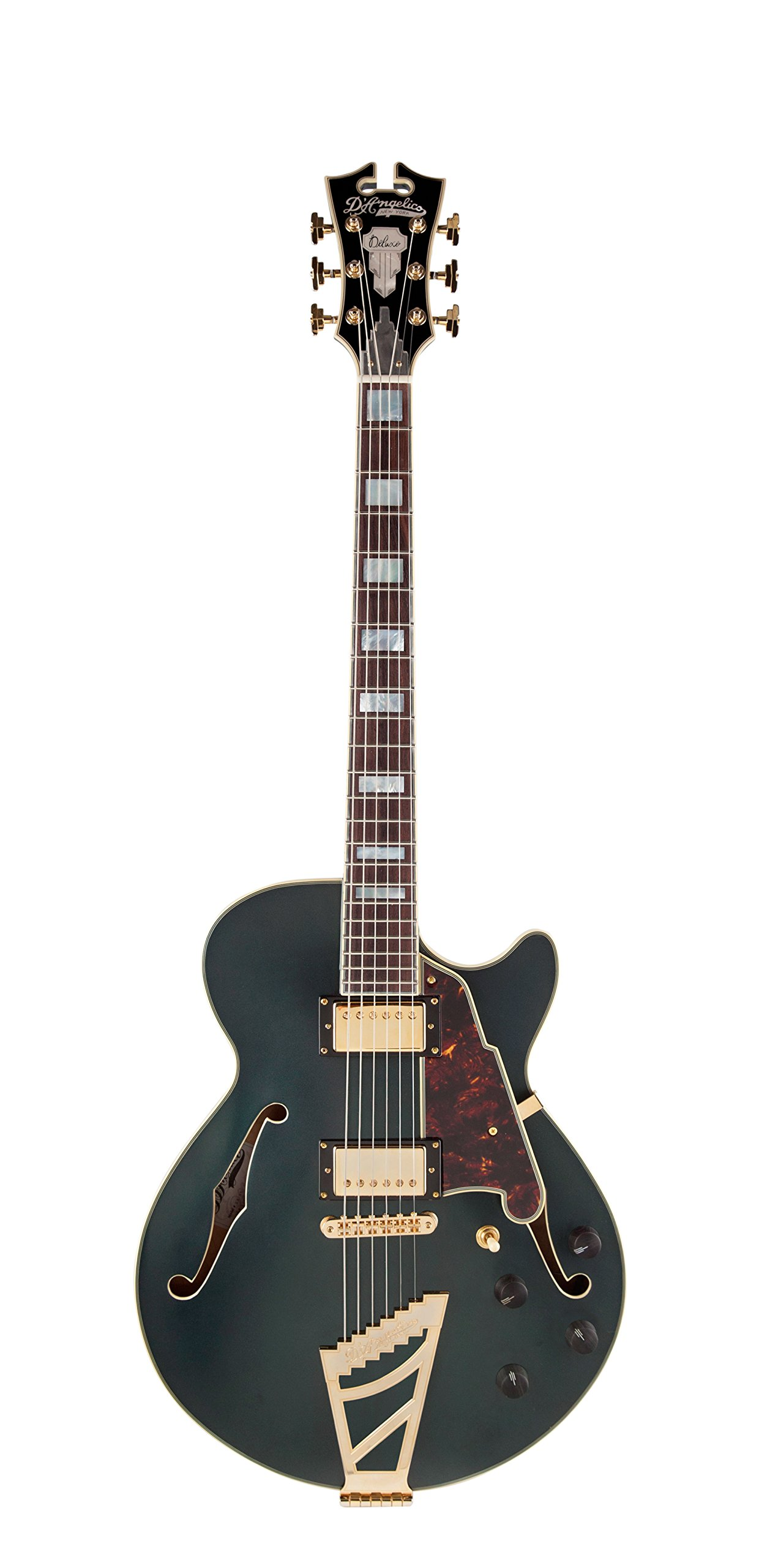 Cheap D Angelico Deluxe SS Semi-Hollow Electric Guitar w/ Stairstep Tailpiece - Matte Midnight Black Friday & Cyber Monday 2019