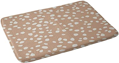"Society6 Kelli Murray Peach Pebbles Bath Mat, 17"" x 24"""